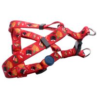 Dog Walking Harness: Hot sale polyester dog harness with sushi logo