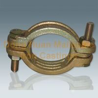 Yellow-double bolt clamp Galvanized Pipe Clamps Double Bolt Clamps Double Bolt Hose Clam