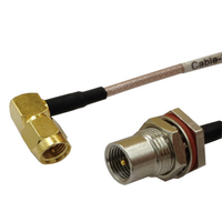New Modem Coaxial Cable SMA Male Plug Right Angle To FME Male Plug Connector RG316 Cable 30CM 12inch thumbnail image