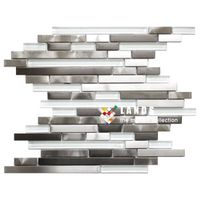 Stainless Steel Metal Mosaic Tiles, Metal Wall and Floor Tiles, Lsmt029.