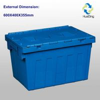 plastic turnover box 600 X 400 X 355