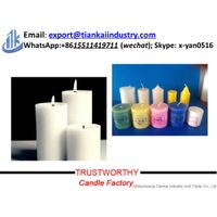 scented white pillar candle on sale thumbnail image