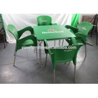 used restaurant furniture plastic chair and table dining set for sale