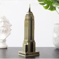 Handicraft metal statue USA Empire state building model souvenir gift 3D model antique