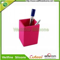 Wholesale square shaped silicone pen holder