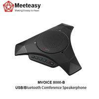 Meeteasy MVOICE-8000-B USB/Bluetooth conference speakerphone microphone speaker