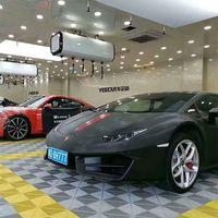 Garage floor tiles 400400MM high quality low price polymer plastic mosaic grille mat plastic floor