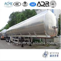 Aluminum Alloy 3 Axle 48cbm Fuel Tanker Semi Trailer