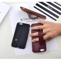 Leather pattern TPU pure color shockproof ultra thin brown soft case with stand for IphoneX 8 7plus thumbnail image