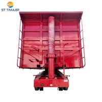 Dump Truck Semi Trailer with Hydraulic Cylinder Transport for Ghana thumbnail image