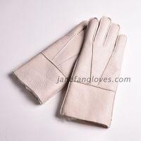 Wholesale customized hand-sewing winter warm women men sheepskin gloves thumbnail image