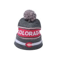winter season knit beanie pom poms
