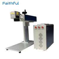 Bar code on plastic logo printing fiber laser machine 20W raycus