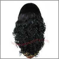 human hair full lace wigs big bottom curl thumbnail image