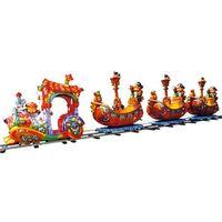 amusement park kid ride--track train