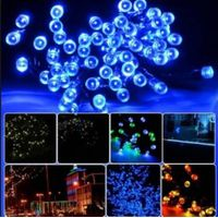 100LEDS Peach Flower solar powered Led lamps Super Bright Solar High Power Led Christmas Lighting La