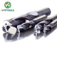 WTFTOOLS 5D 20mm Solid Carbide Drill Bits For Metal Drilling Hole With Inner Coolant