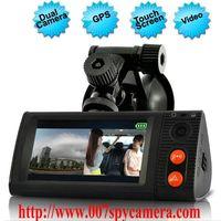 Dual Camera Car Blackbox DVR With 3 Inch Touchscreen GPS Logger And 3D G-Sensor LM-CV727 thumbnail image
