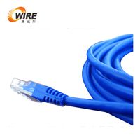 1ft Cat5e UTP Patch Cable, 350 Mhz 24AWG Blue