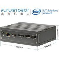 Future Robot F1 x86 N3350/N4200/J4205 HDMI+DP 1LAN 1SD 1COM 4USB Fanless Mini PC Wide Temp IPC