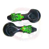 Hand painted art glass pipe spoon pipe hand pipe smoking pipe