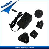 Interchangeable Power Adapter From 6w~30w with US EU AU UK Plug
