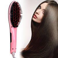 2016 Top 10 wholesale original electric LCD display fast beauty star hair straightener brush
