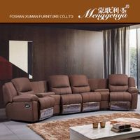 Corner recliner fabric sofa