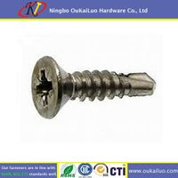 Stainless Steel 316 Pozi Flat Head Self Drilling Screws