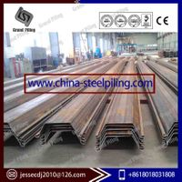 Steel sheet pile cold rolled and hot formed Larssen piling