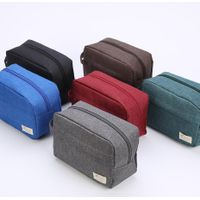 6 Colors Custom Logo Cheap Polyester Travel Toiletry Bags Private Label Man Toiletry Wash Bag