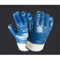 NITRILE DIPPING GLOVES WITH SAFETY CUFF[80-233]