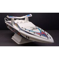 Tiger Shark Nitro Gas Powered RC Remote Control Boat RTR Powerful 15 Class Engine With Cooling Syste thumbnail image