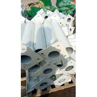Flanged round post for highway guardrail safety