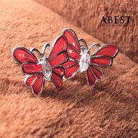 Fashion 925 Sterling Silver Butterfly Shape Color Enamel Earring Gift Design