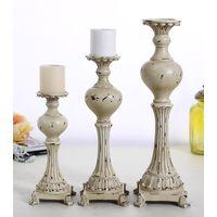 Home decor carved candelabra resin candle holders