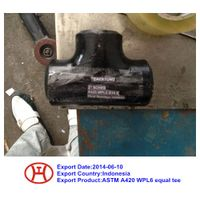 ASTM A420 WPL3/WPL6/WPL9 reducer tee elbow cap pipe bend