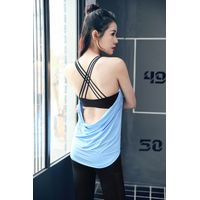 Wholesale Tank Top Womens Custom Sports Singlets With Personal Label gym clothing fitness t shirts