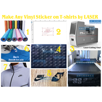 Make Any Vinyl Sticker on T-shirts by LASER
