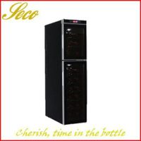 18 bottles dual zone electronic wine fridge cellar