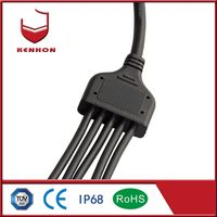 Y Type IP68 1 input 3 Outputs LED waterproof Connector support quick release thumbnail image