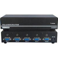 1x4 VGA+Audio Spiitter/ 4 Port VGA Splitter 350MHz thumbnail image