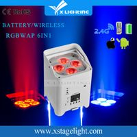 Factory wholesale 4pcs 18w rgbawv 6-in-1 wireless uplighting