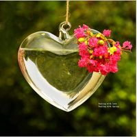 heart shape clear glass vase/hanging glass terrarium