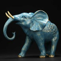 bronze elephant figurine, a Great gift or Fengshui decorative statue to put in office