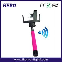 wholesales handheld monopod for mobile phone,selfie monopod bluetooth with mirror