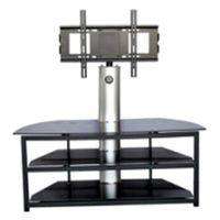 silk-screen tempered metal frame tv stand
