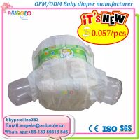 High Quality Disposable baby diapers in OEM famous Brand