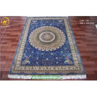 Turkish hand knotted rug persian silk rugs 400kpsi small size rug Chinese handwoven carpets
