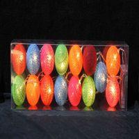 decorative cotton ball string lights led gift thumbnail image